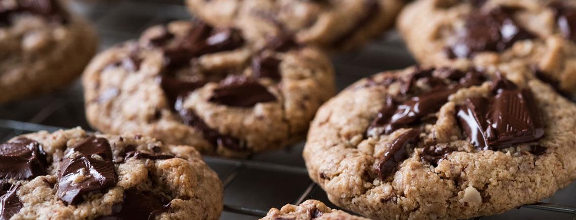 Cookies au chocolat au lait noisettes côte d'or ®