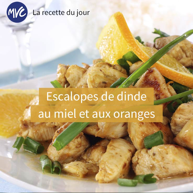 escalope dinde orange miel