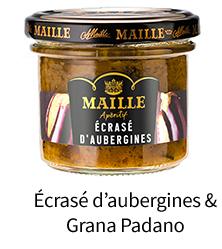 Écrasé d'aubergines & Grana Padano