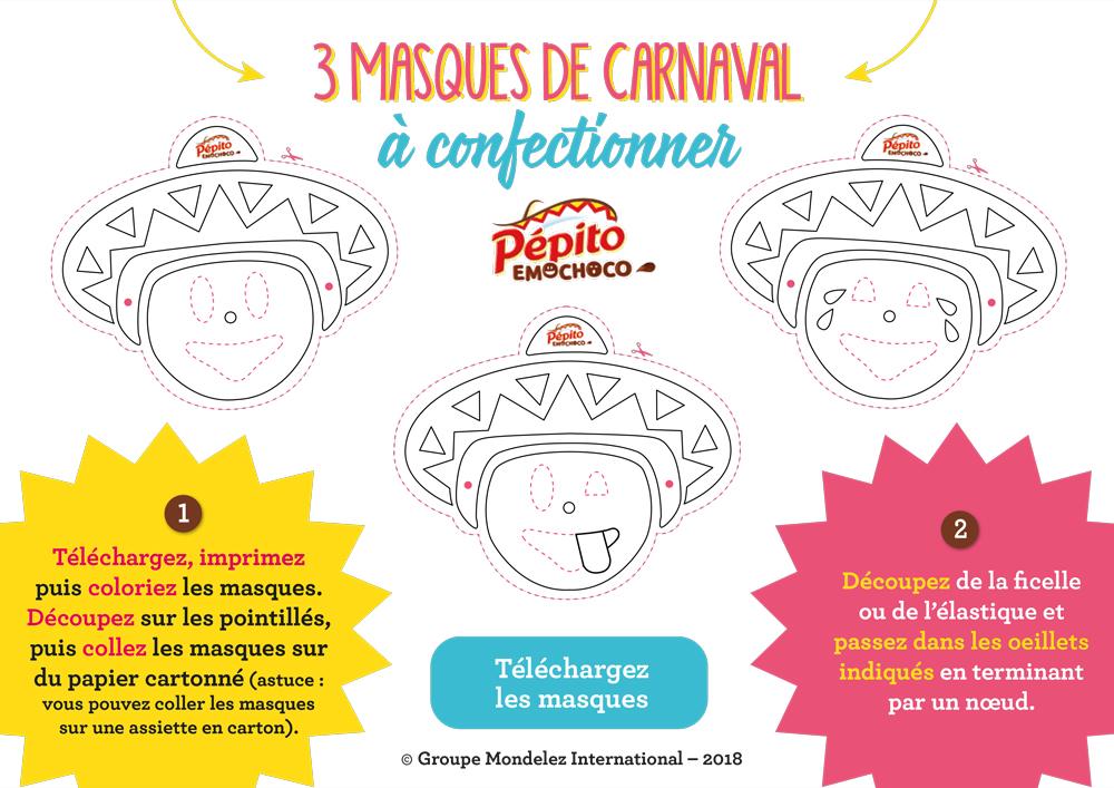 Coloriage Carnaval Martinique.Se Deguiser Avec Un Masque De Carnaval Pepito Emochoco