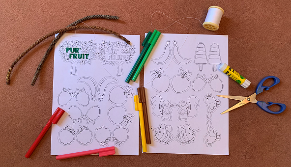 Pur'fruit coloriage