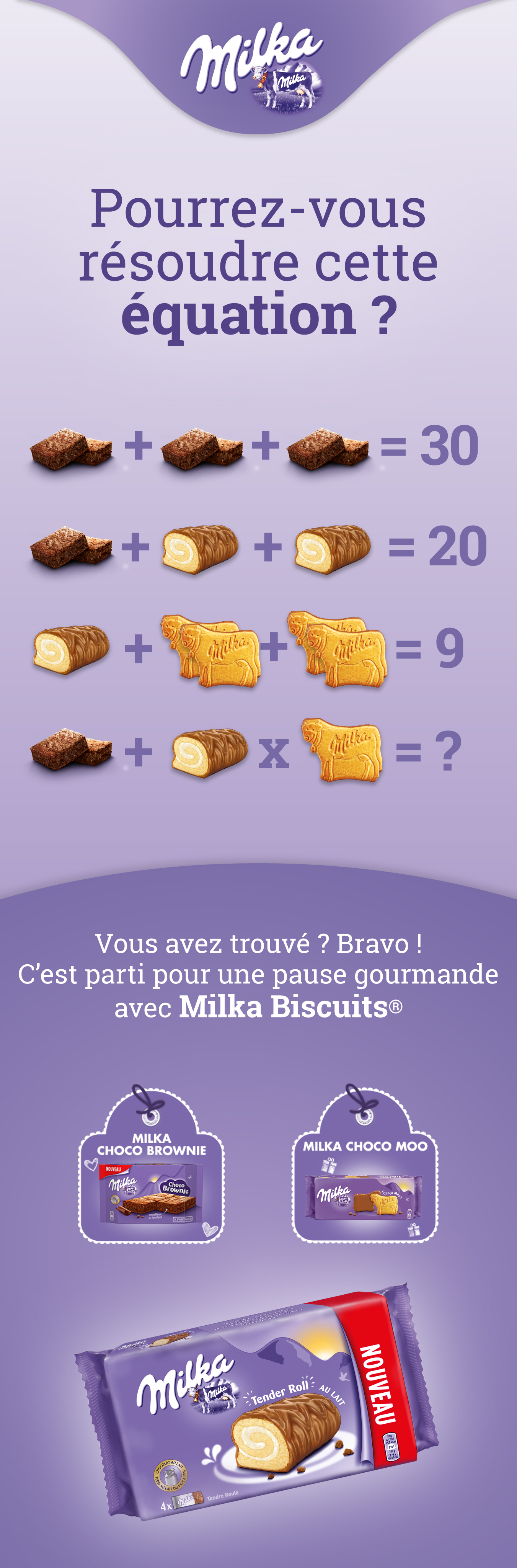 pause gourmande avec milka biscuit