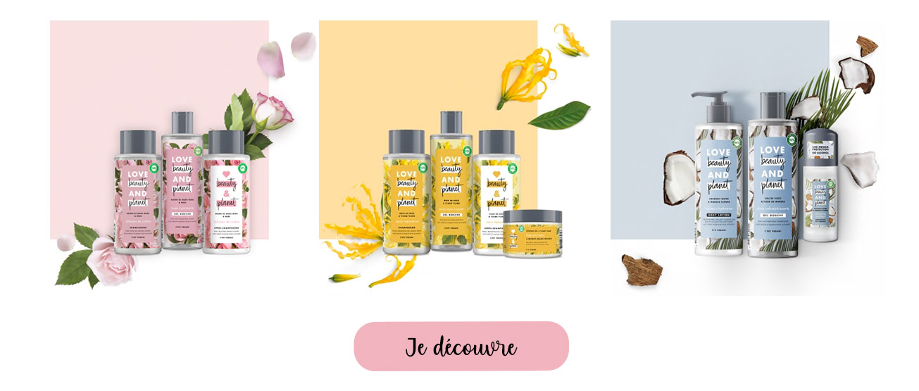 produits love beauty and planet