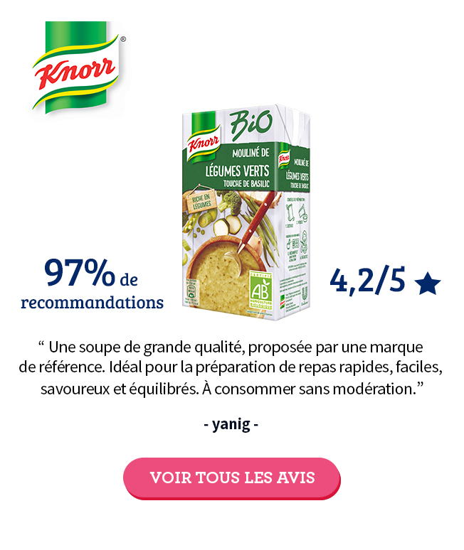 Test Knorr soupe bio