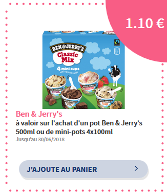 réduction ben&jerrys