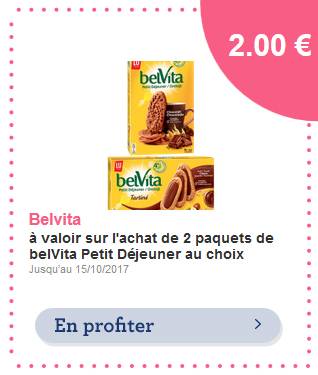 Bon de reduction belVita