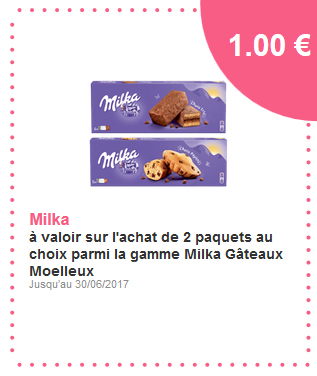 Bon de réduction Milka