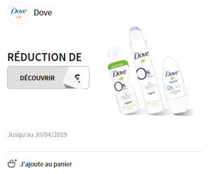 bon de réduction dove