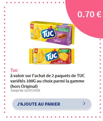 bon de réduction tuc