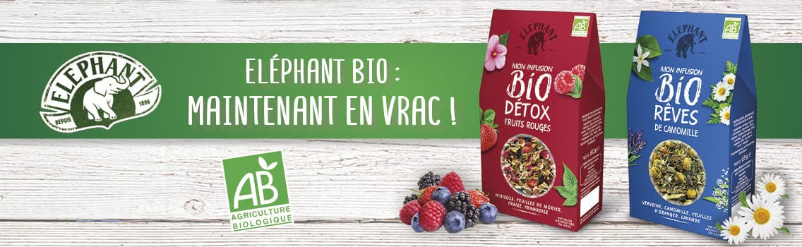 Infusions Bio Eléphant vrac fruits rouges camomille