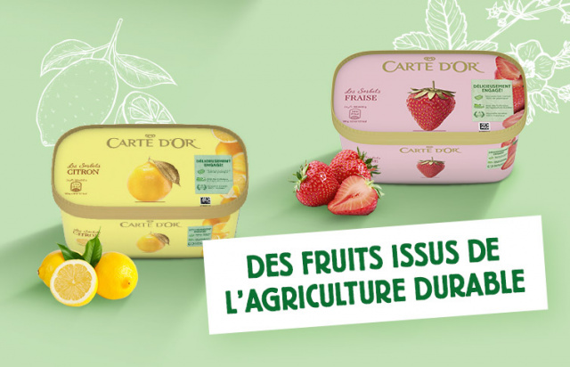 Carte d'Or crème glacées sorbets fruits agriculture durable