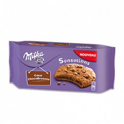 Milka cookies sensations coeur chocobrownie