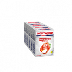 Chewing-Gum Hollywood Blancheur parfum fraise