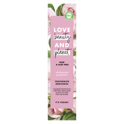 Dentifrice Love Beauty and Planet Protection Complète Naturel Gencives Rose Aloe Vera Vegan