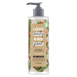 Lait Corps Nutrition Love Beauty and Planet Naturel Karité Bois de santal Vegan