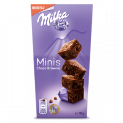 mini brownie milka