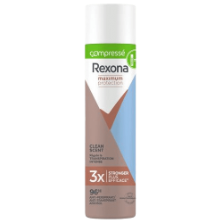 Rexona, déodorant anti-transpirant femme, Clean Scent, compressé, Maximum Protection, 3x plus efficace, efficacité 96h.