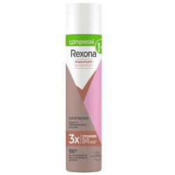 Rexona, déodorant anti-transpirant femme, confidence, compressé, Maximum Protection, 3x plus efficace, efficacité 96h.