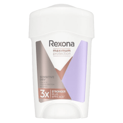 Rexona, déodorant anti-transpirant femme, sensitive, stick, Maximum Protection, 3x plus efficace, efficacité 96h.