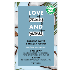 Savon solide Love Beauty and Planet vegan fraîcheur eau de coco mimosa