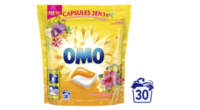 D18242 8710447451786_OMO Capsules 2en1 Fleurs d'Agrumes et Bergamote 30 Doses_FOP