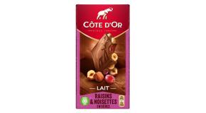 chocolat Côte d'Or Lait Raisins Noisettes