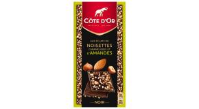 Tablette Côte d'Or Eclats de noisettes et d'amandes