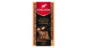Tablette Côte d'Or Eclats de noisettes et de sésame