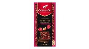 Tablette Côte d'Or Eclats de noisettes et de framboise