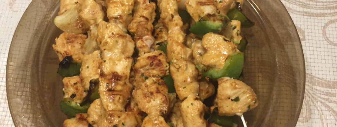 Brochettes poulet curry ginger