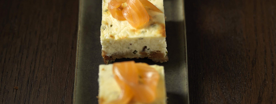 Cheese cake* au saumon et aux Crackers Belin®