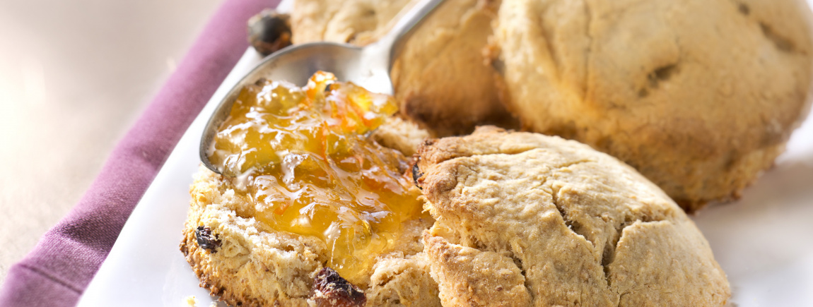 Scones aux raisins secs et orange avec Fruit d'Or ProActiv®